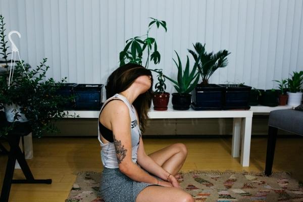 Home meditation yoga