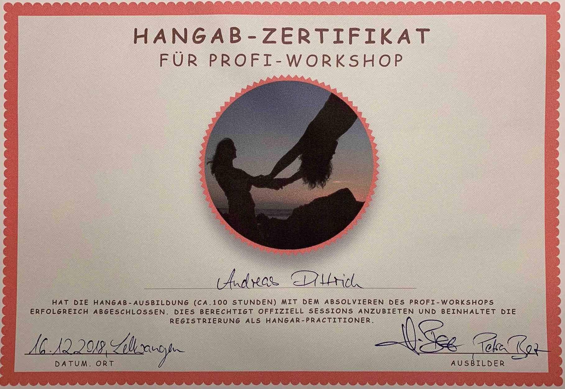 Andreas certified Hangab Professional Germany-Switzerland-Austria-(Sometimes Worldwide)