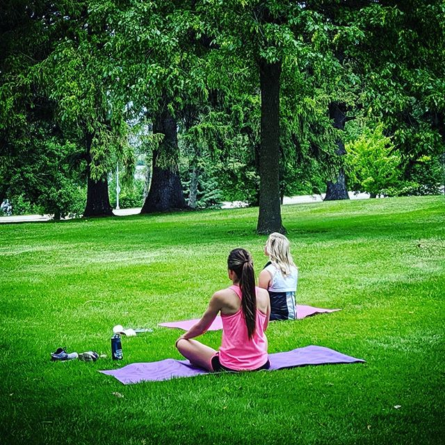Pop-up yoga Friday, June 28 at @workupwillmar for $5 --  12:15-12:45PM outside, in the sunshine