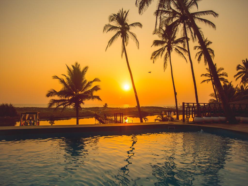 Sunset at Riva Beach Resort, Goa, India