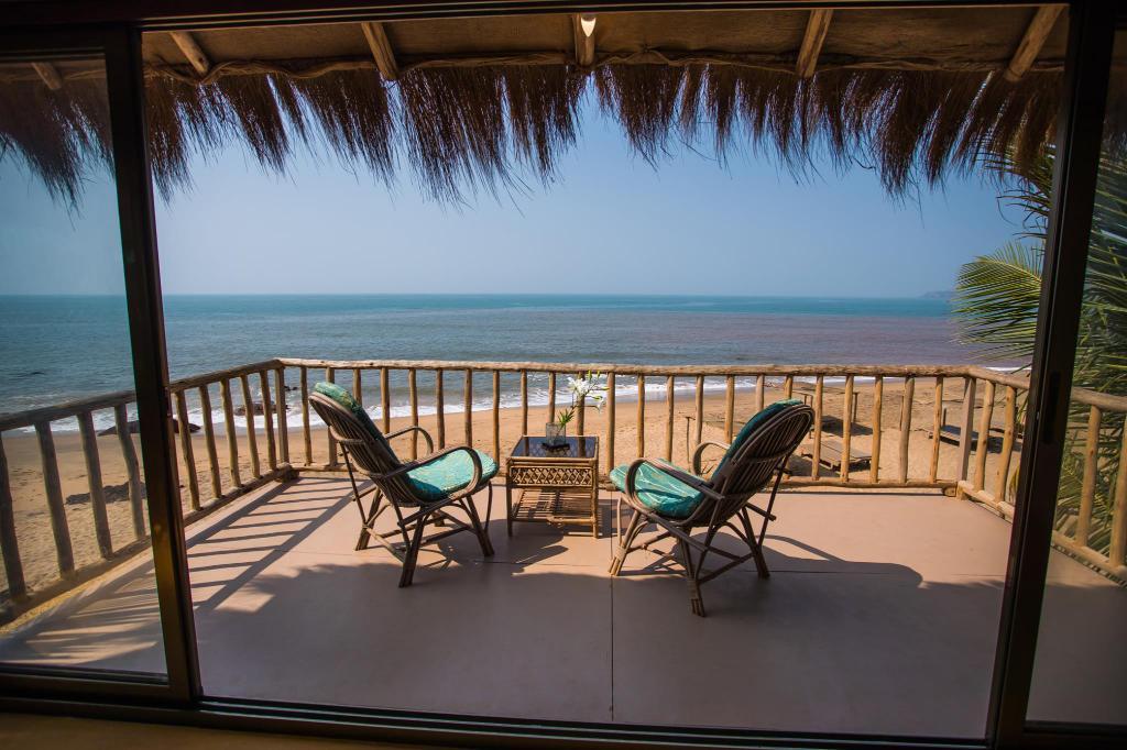 The beach at Dwarka Boutique Beach Resort, Goa, India