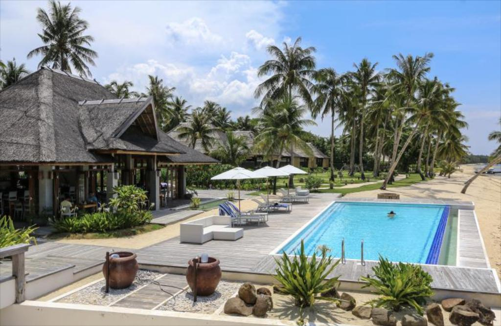 The pool at Isla Cabana Resort, Siargao