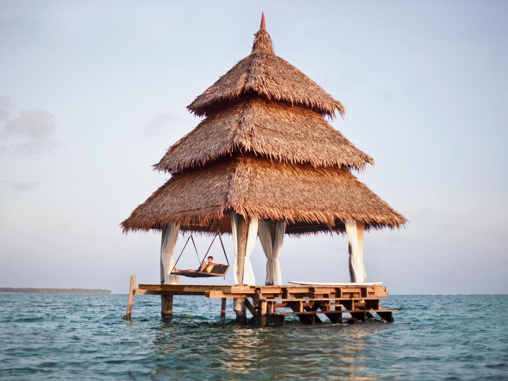 Ocean palapa at Dedon Island Resort, Siargao