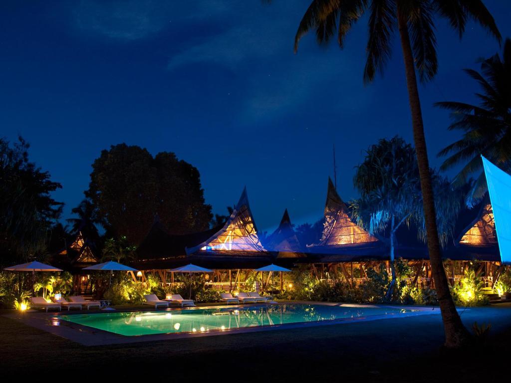 Pool at Dedon Island Resort, Siargao, Philippines