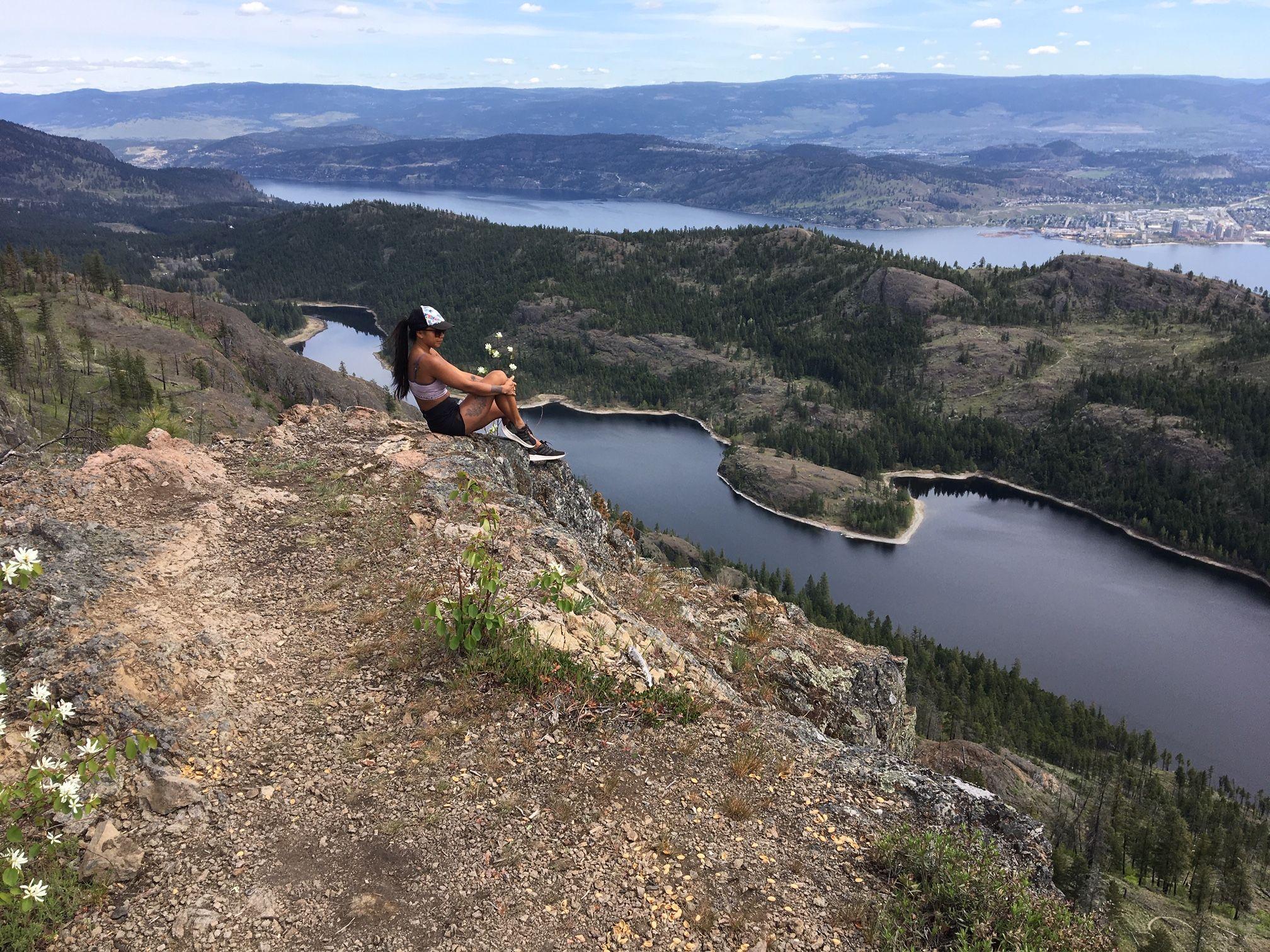 Top of McDougall Rim Trail Kelowna, Okanagan Valley, British Columbia.