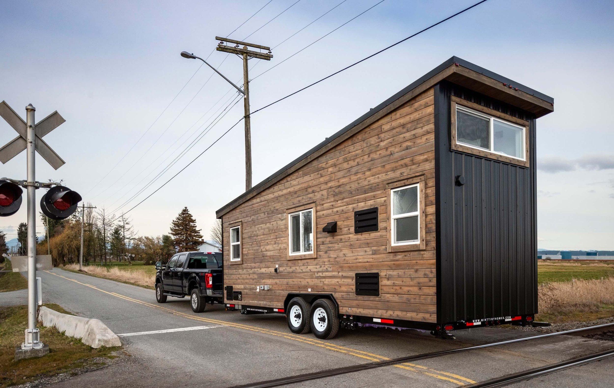 Exterior of the Mint Aero Tiny House