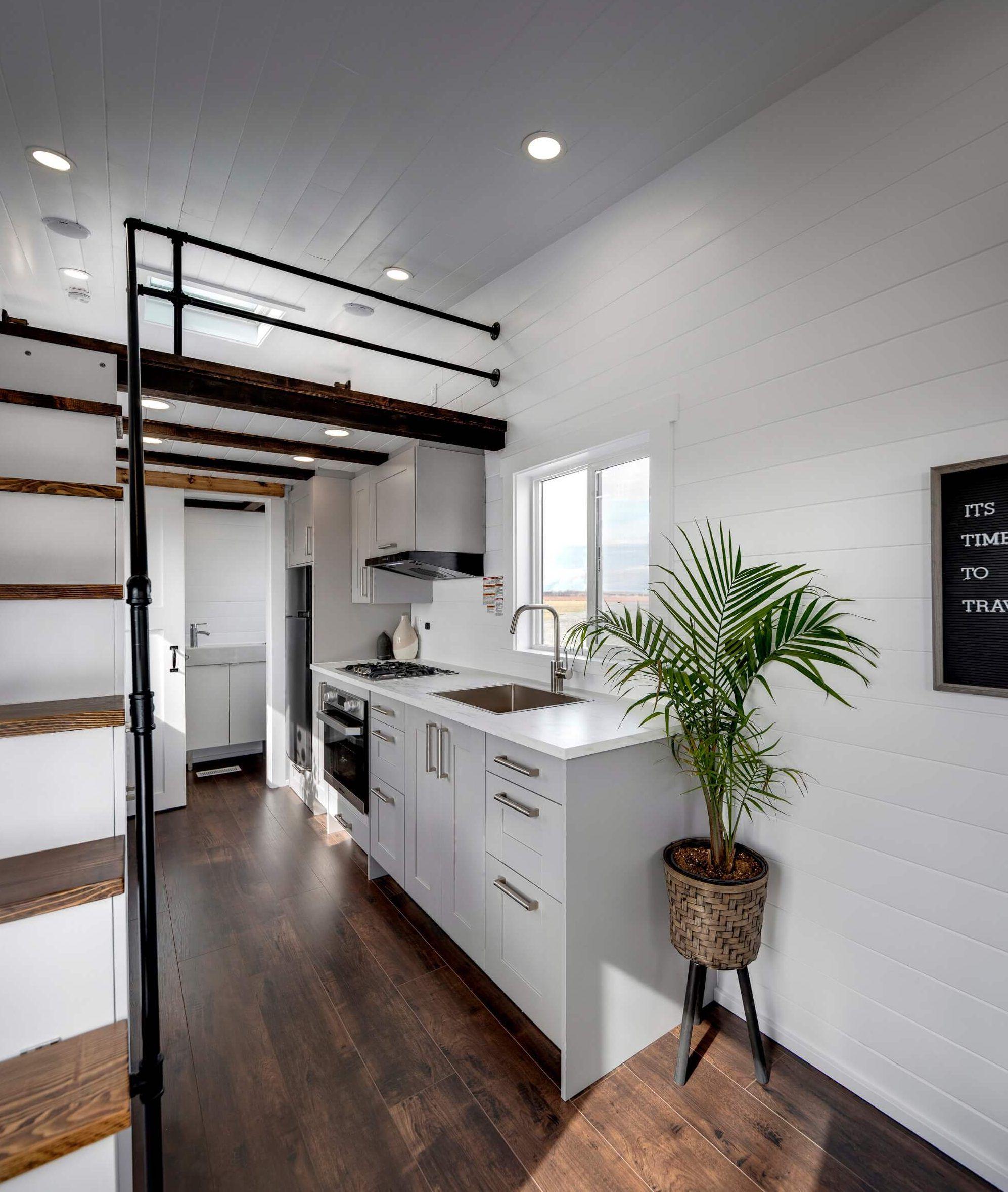 Interior of the Mint Aero tiny house