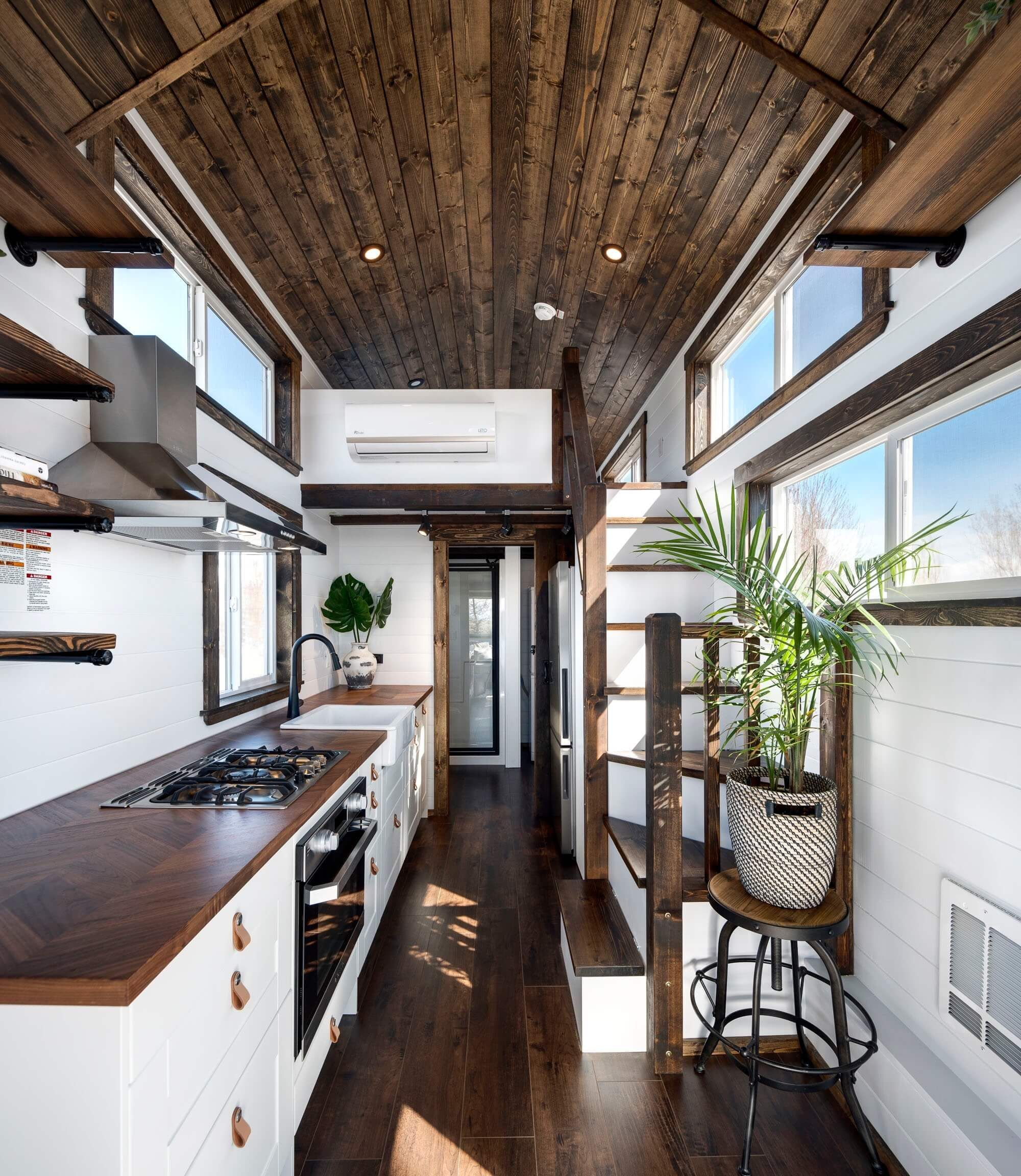 A Mint tiny house interior