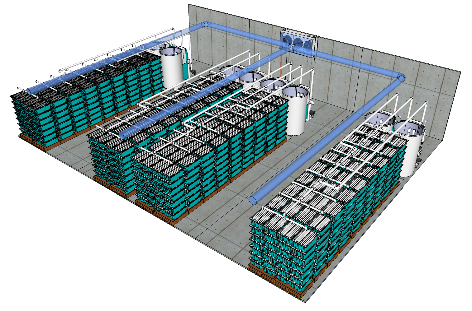 125,000 lb Traystor Crate Live Seafood Distribution Centre