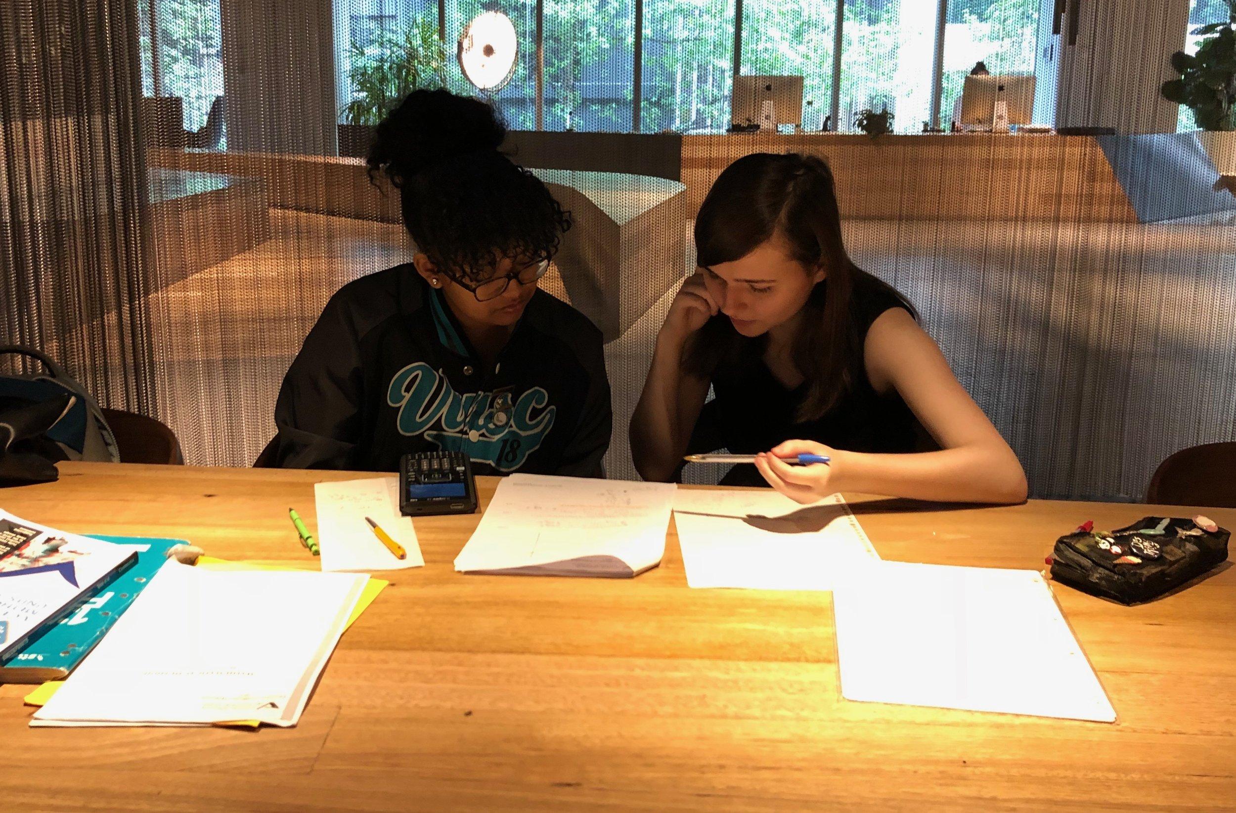 Yedidya and her Enquiring Minds Mentor, Maleeka.