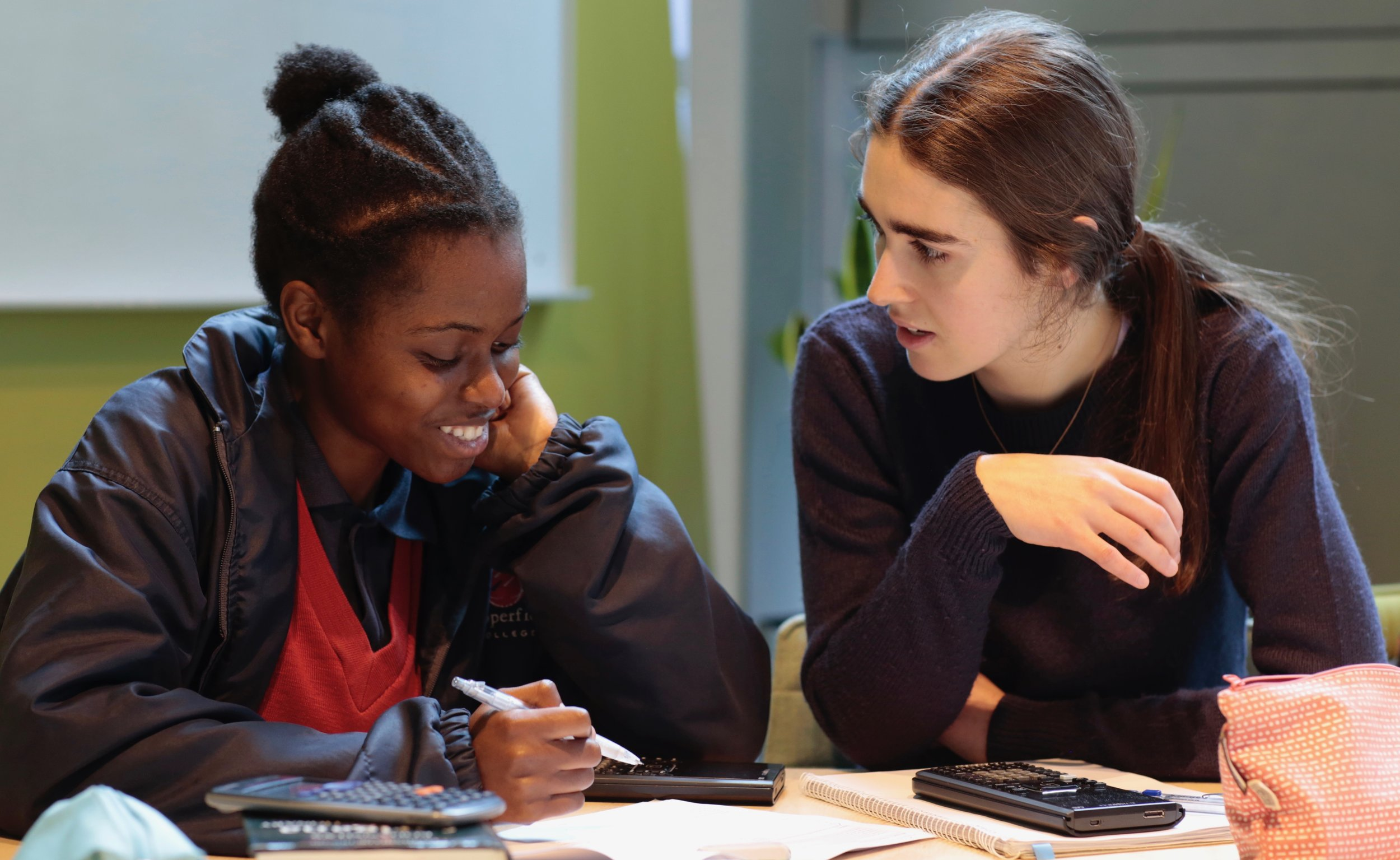 Mentoring takes place in safe and open yet quiet spaces kindly provided by our partners.