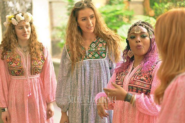 Feeling the boho vibe @secretexperience in Fitzrovia where the hosts all wore our Jaipur vintage smocks & midi dresses #secretgarden #secretbrunch