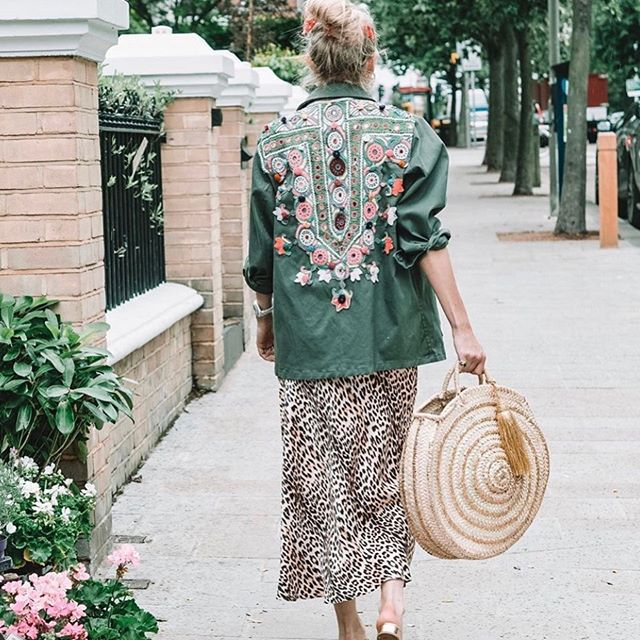 Our unique Ibiza embellished cargo jacket collab with @pom_london is on pre order now ! First stock sold out before we could get them online but now you can bag one early. They are so beautiful every embroidered back is a vintage unique hand embroidered piece by the kutch tribe in India. Each panel is an amazing piece of history, a ceremonial dress passed from family to family to add their unique touch and message of love before it becomes the embroidered jacket you see ! It takes the tribe over 4 months to make each handmade stitched panel ! These are genuine pieces of both history & art  we want you to wear them, keep them, enjoy them, pass them on ! #slowfashion #madewithlove 💕