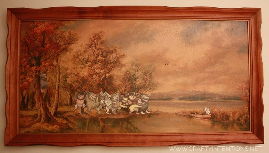 2013 Where the Wild Things Are on a Thrift Store painting with glow in the dark stars-01.jpeg