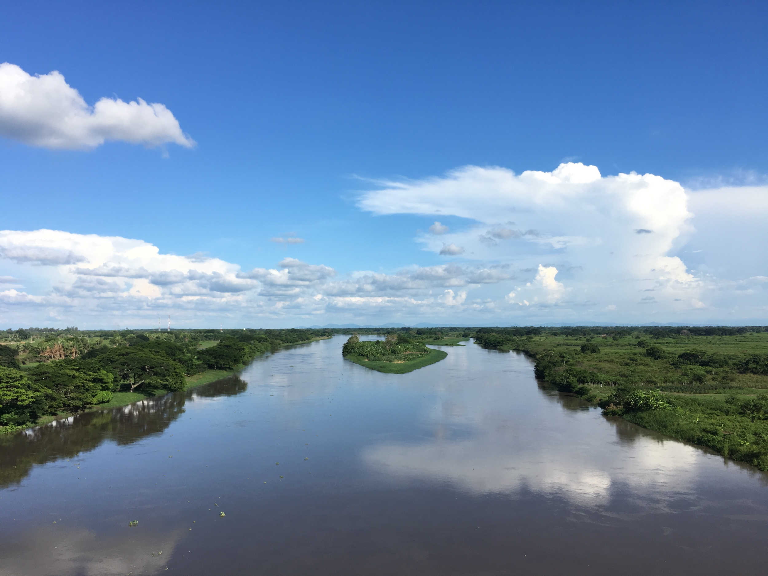 River dividing the departments Bolivar and Magdalena.