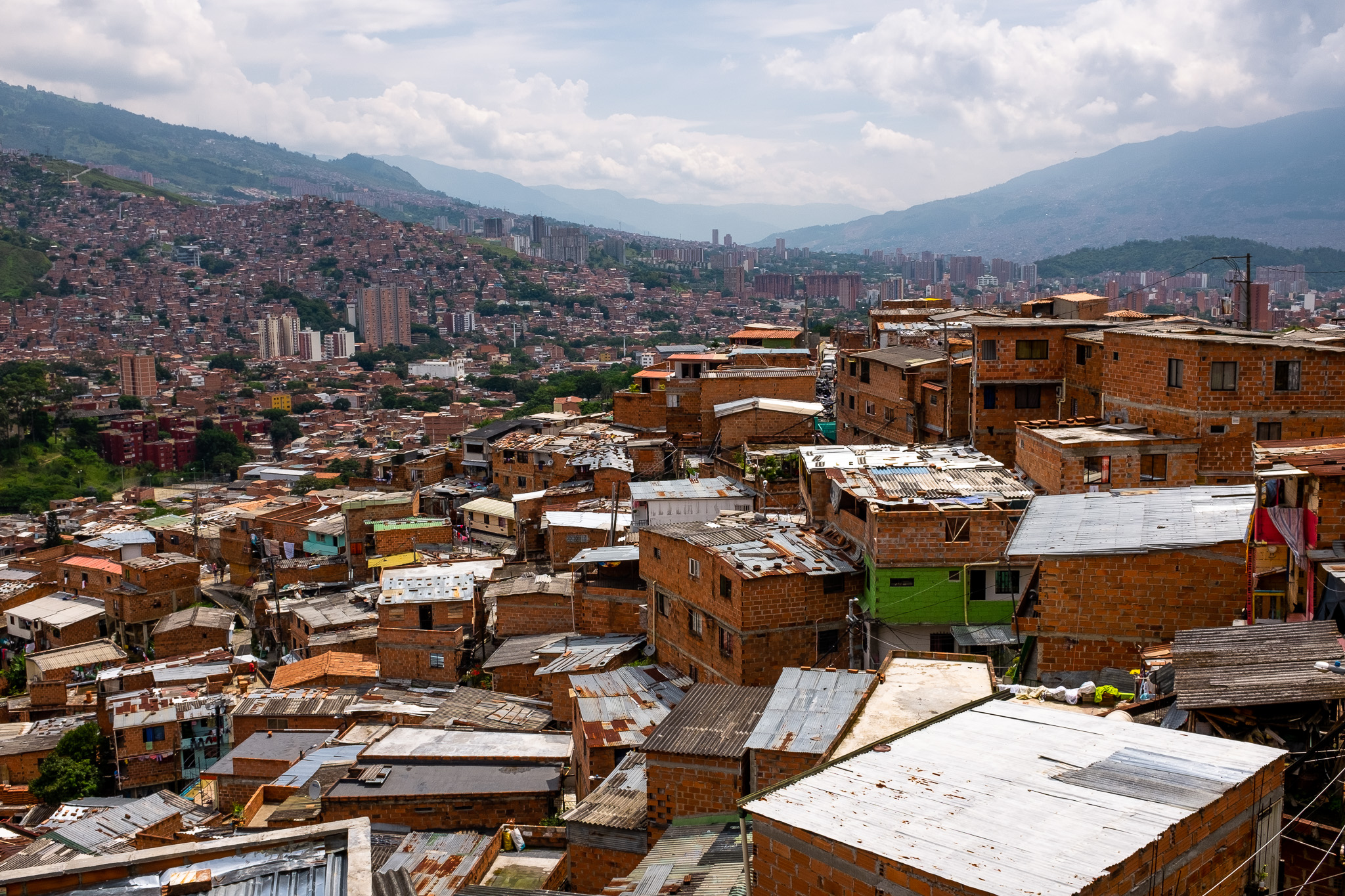 View of Medellín from Comuna 13. A notorious neighbourhood with a bloody history.