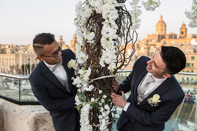 Another amazing wedding at the sheer bastion!  #love #wedding#maltesewedding #maltawedding #malta #senglea #maltalife #gayweddings #groomandgroom #weddingabroad #weddingdestination