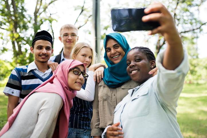 Group of youth taking a selfie