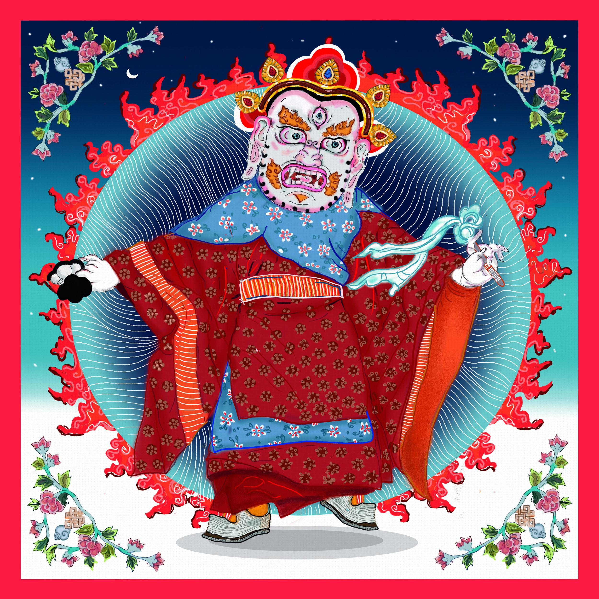 8.Ramtek Chaam+ traditional Thangka painting.jpg