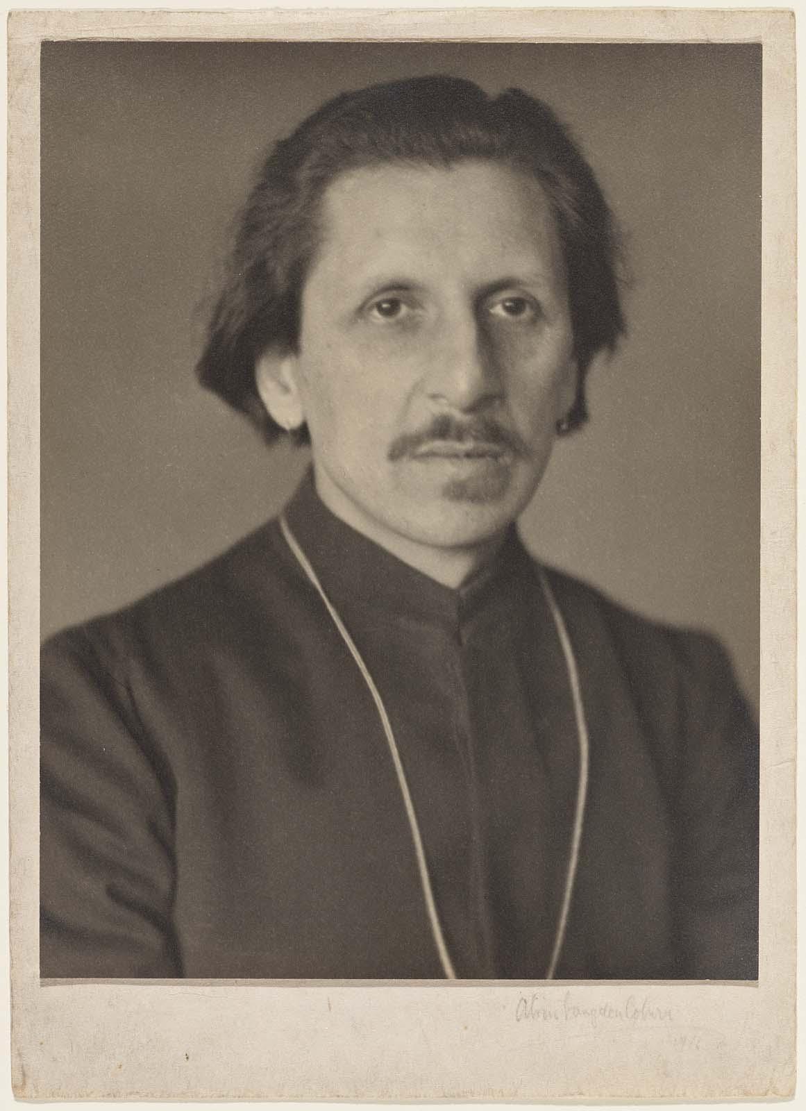 Portrait of Ananda K. Coomaraswamy, 1916   Alvin Langdon Coburn  (American, 1882–1966)  Museum of Fine Arts, Boston