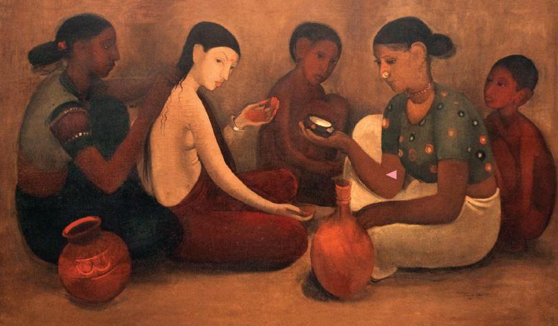 "Amrita Sher-Gil ""Bride's Toilet"", 1937  Image Courtesy NGMA, New Delhi, India"