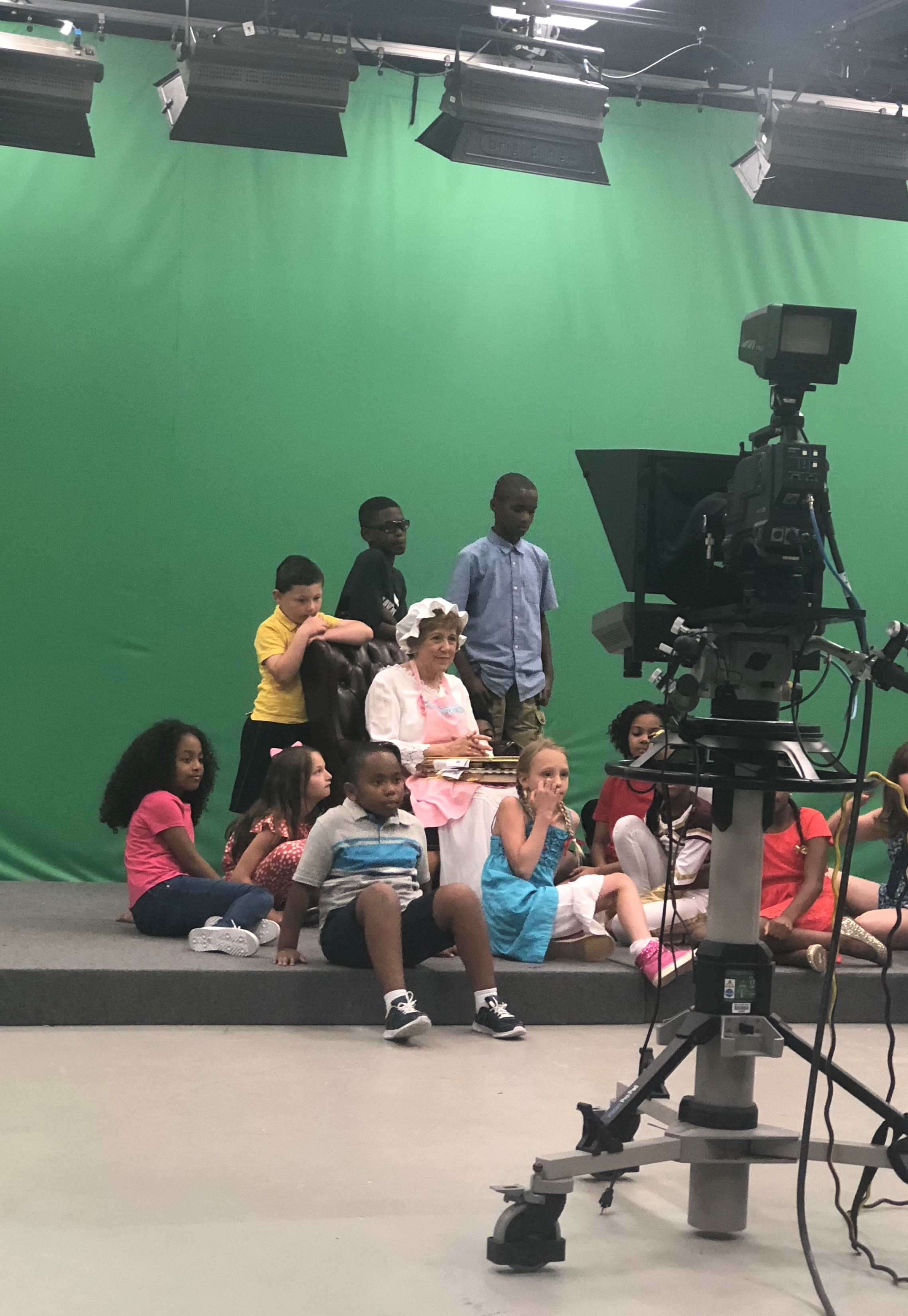Filming a local children's television show