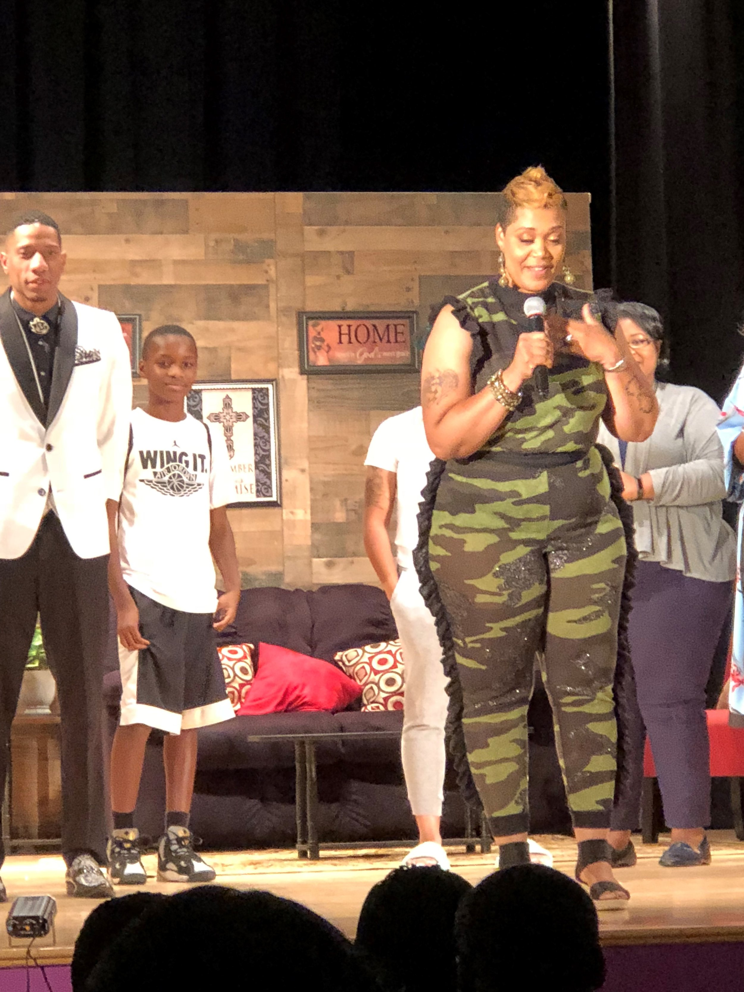 """The ties that bind"" stageplay curtain call w/ Writer & Director La'Ray"