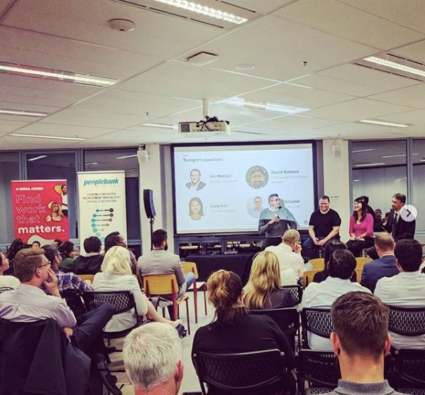 Lucy speaking on the Sydney General Assembly panel about Blockchain, May 2019.