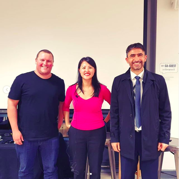 Lucy and fellow panelists at Sydney General Assembly May 2019.