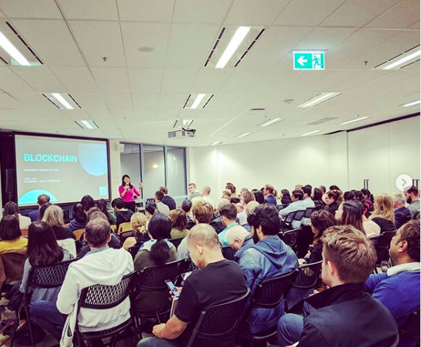 Lucy presenting about Blockchain at General Assembly Sydney May 2019.