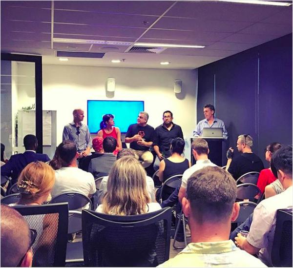 Lucy speaking on the panel for BlockchainSydney about how blockchain will influence the eCommerce space and retail space, February 2019.