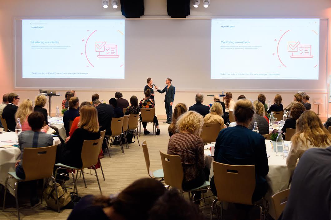 De lancering van Impactwijzer door Emma Verheijke, Partner bij Sinzer. Foto: Jostijn Ligtvoet ©