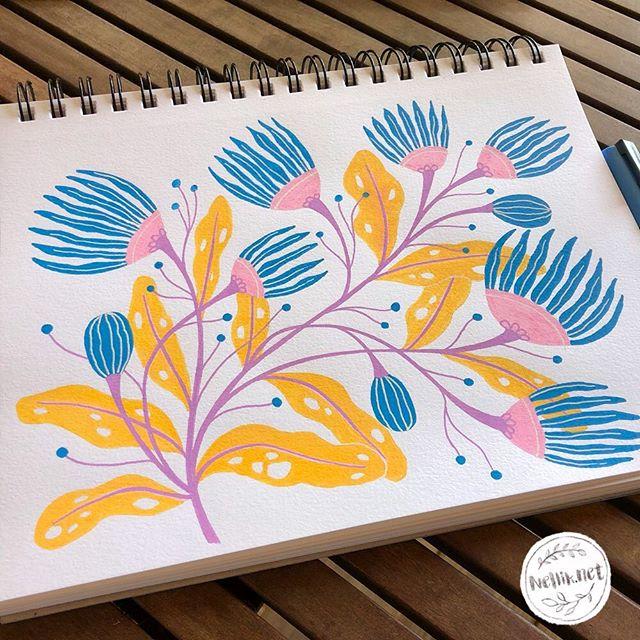 Posca Pencils floral drawing.  Day 51 of the100dayproject . . . @lindsayjeanthomson  @VictoriaJohnsonDesign #birdsbutterfliesandblooms  #paintedflowers #artchallenge #paintingchallenge #instagramchallenge #paintanyway  #dailysketch #lovetopaint  #guachepainting  #floralillustration #greetingcarddesign  #makeitindesign #makeartthatsells #MATSHomeDecor #homedecor #Nellik #patternobserver #artlicensing #ArtLicensingShow #artforlicensing #thecolorgang #surfacedesign #ArtLicensing #artforproducts #artistsofinstagram #magicalplant  #spdcommunity #botanicalillustration #greetingcarddesign #folkart