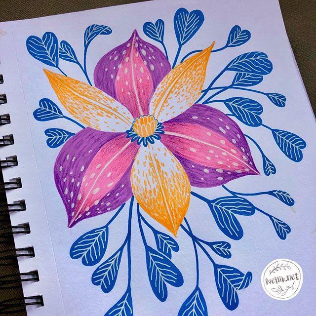 Just another flower. 🌸🌺🌹 Day 54 of #the100dayproject . . . @lindsayjeanthomson  @VictoriaJohnsonDesign #birdsbutterfliesandblooms  #paintedflowers #artchallenge #paintingchallenge #instagramchallenge #paintanyway  #dailysketch #lovetopaint  #guachepainting  #floralillustration #greetingcarddesign  #makeitindesign #makeartthatsells #MATSHomeDecor #homedecor #Nellik #patternobserver #artlicensing #ArtLicensingShow #artforlicensing #thecolorgang #surfacedesign #ArtLicensing #artforproducts #artistsofinstagram #magicalplant  #spdcommunity #botanicalillustration #greetingcarddesign #folkart