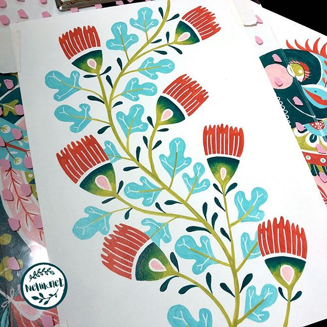 Day 65 of #the100dayproject  I keep working struggling with finding free time for my project. I have tons of sketches, but not enough time to paint. . . @lindsayjeanthomson  @VictoriaJohnsonDesign #birdsbutterfliesandblooms  #paintedflowerss #artchallenge #paintingchallenge #instagramchallenge #paintanyway  #dailysketch #lovetopaint  #guachepainting #greetingcarddesign  #makeitindesign #makeartthatsells #MATSHomeDecor #homedecor #Nellik #patternobserver #artlicensing #ArtLicensingShow #artforlicensing #thecolorgang #surfacedesign #ArtLicensing #artforproducts #artistsofinstagram #spdcommunity #greetingcarddesign #folkart #folkartpainting