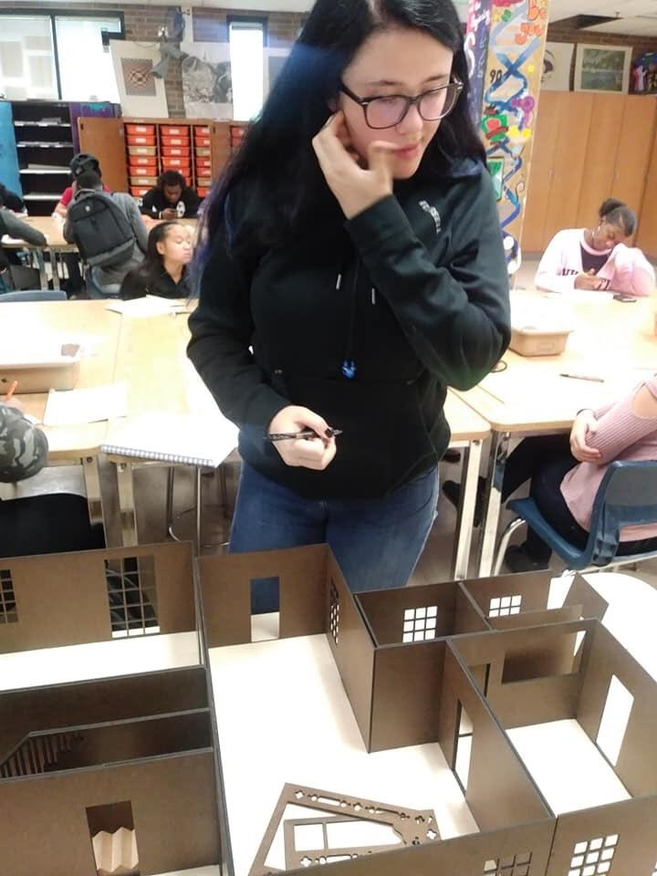 Educational Curriculum - The Model House Project enabled secondary school-aged students to express their perspectives on femininity.