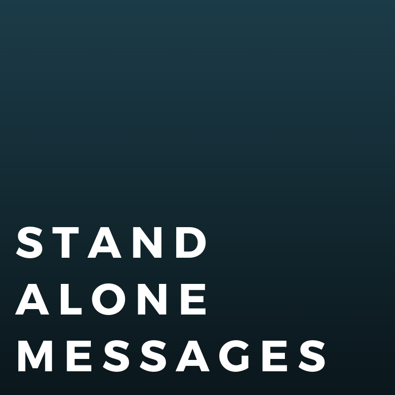 Stand Alone Messages - This page was designed to add any sermon or service that isn't attached to a sermon series.