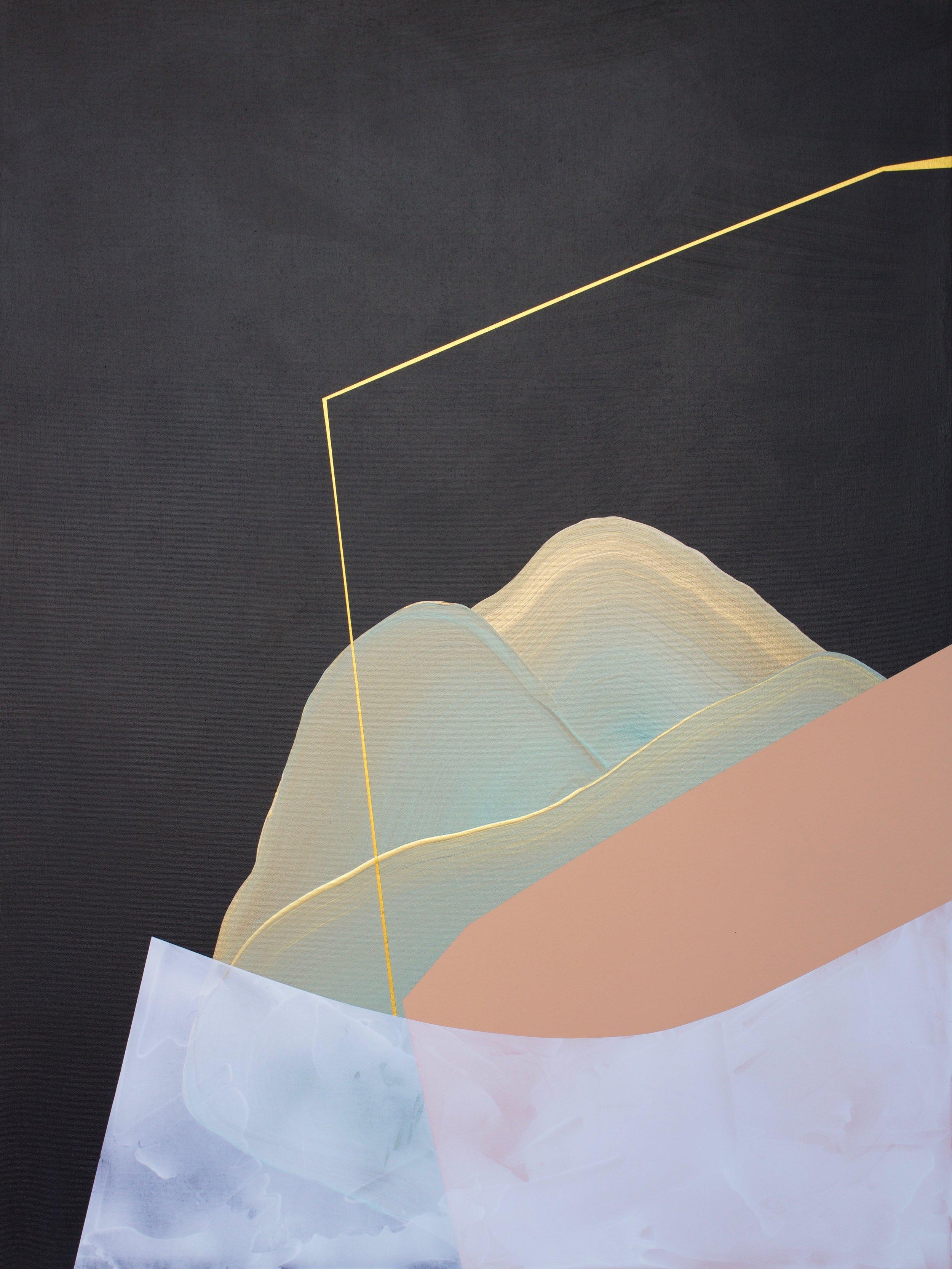 Be Happy  Mixed acrylic medium on canvas 40x30 inches $1100.00