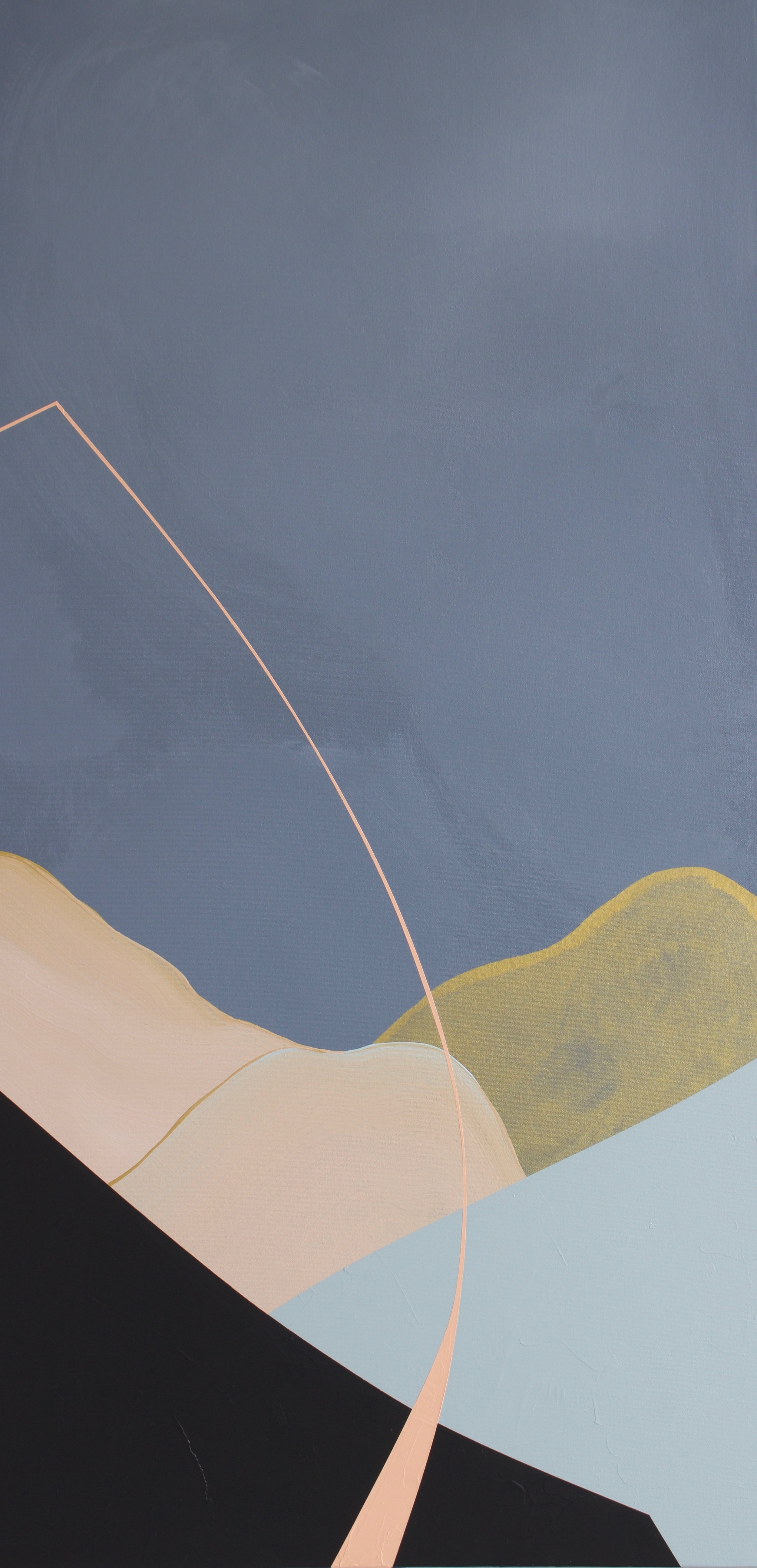 A Tickle Of The Toes  Mixed acrylic medium on canvas 48x24 inches $1050.00