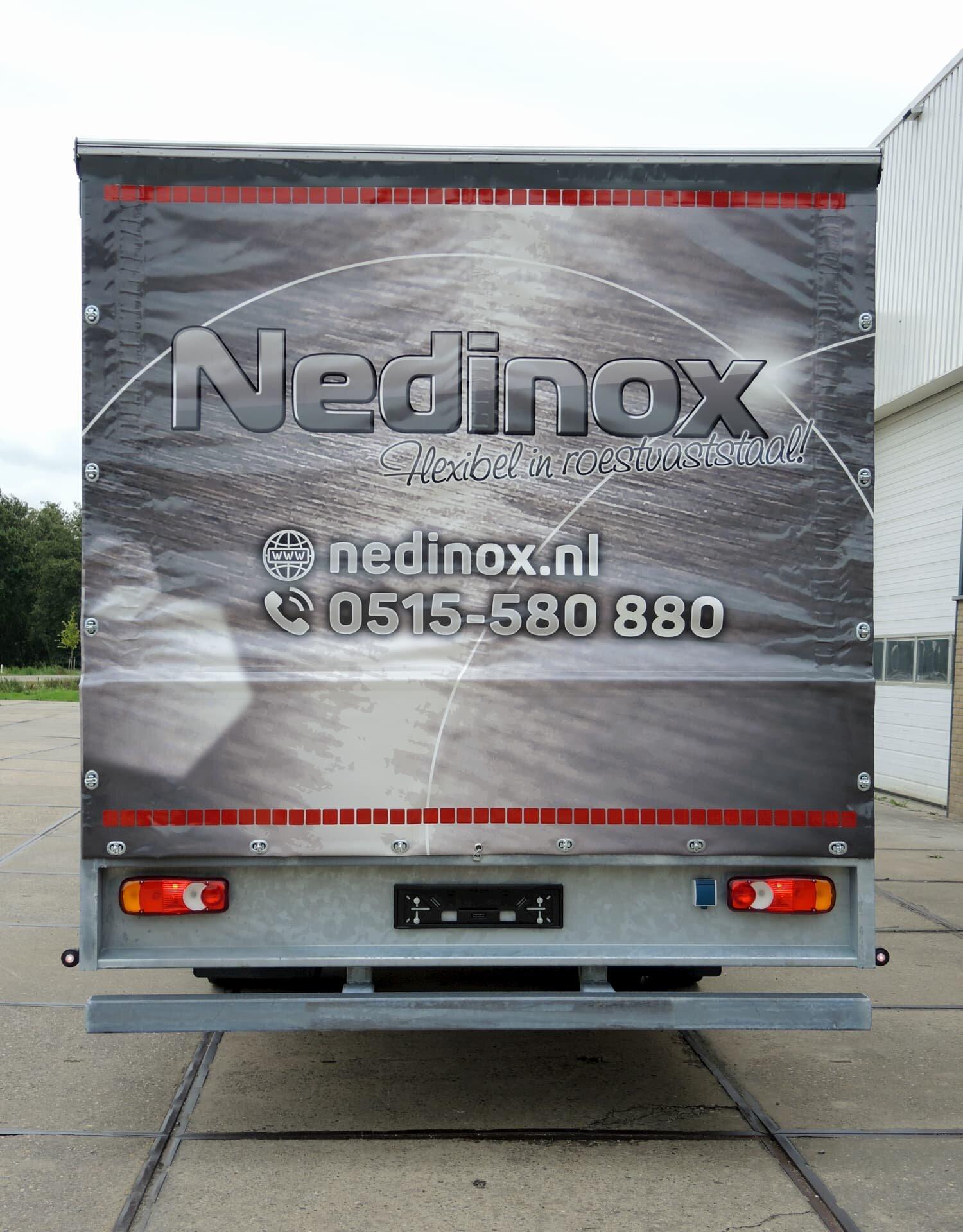 Nedinox - Schuifzeil achterzijde dicht