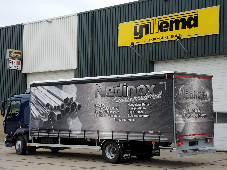 Nedinox - Achter en zijkant bestuurderszijde