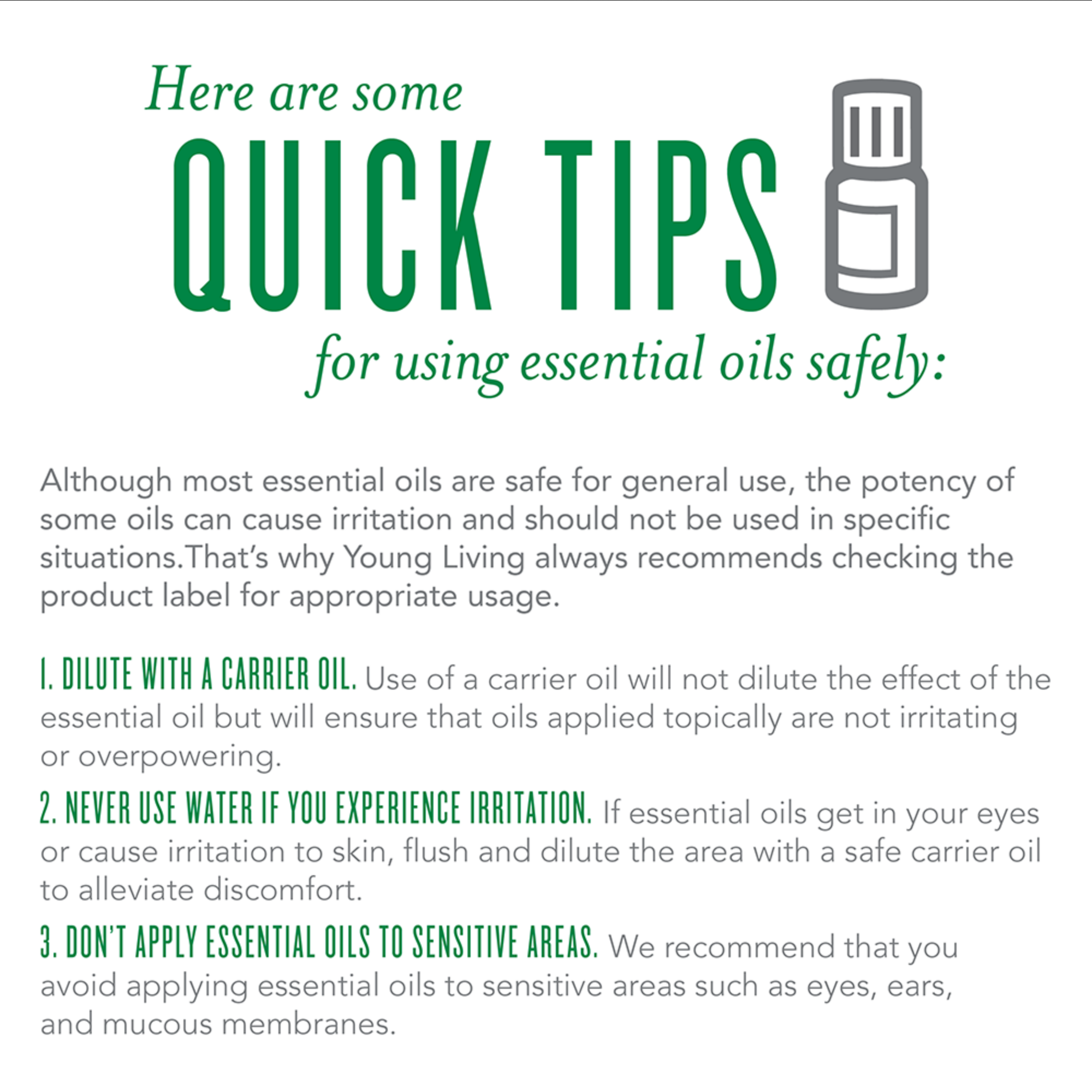 Be safe when using essential oils - learn more about the oils we use at SBW -  ESSENTIAL OILS
