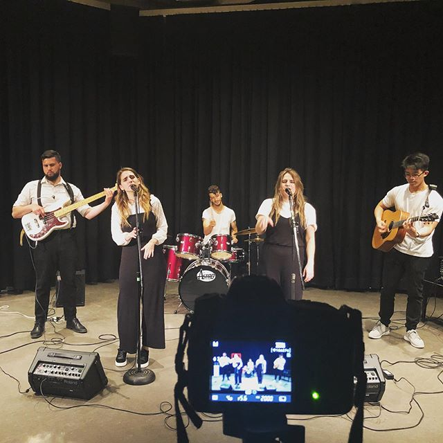 Today is the day!! We kick off our summer gig line up with at @downtownkingston and Music in the Park today from 12:30-1:30pm in Confederation Basin across from Kingston's City Hall. Here is a sneak peek of us recording our video for the @ygkemergingmusician competition - so much fun!! 😎 Come join us today for some originals and cool covers 🎶☀️🌈🎉! . . . . #ygkmusic #ygklive #downtownkingston #musicinthepark #lunchtimeseries #confederationbasin #cityhall #kingstonontario #canadiansummer #countrymusic #pop #singers #twinsisters #bandmates #summergigs #getthispartystarted