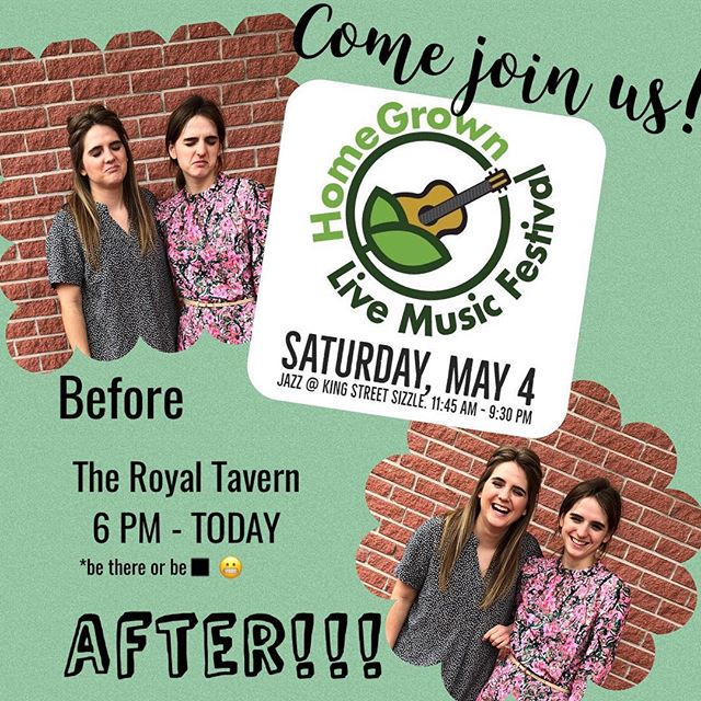 TODAY AT 6:00pm!!!! Come out and support a great cause and enjoy tons of live and local music in #downtownkingston 🎶! Bracelets are $10 and get you in to all venues for the entire day across the city, in support of @joes_mill, a musical instrument lending library in Kingston. We had a blast playing last year and can't wait to hit the stage again with the band 🥳! See you there 🙌!! . . . . #ygkmusic #ygkarts #ygklive #ontario #canadianmusicfestival #singers #band #countrypop #originalmusic #theroyaltavern #joesmill #musicalinstrument #library @homegrownlive2019