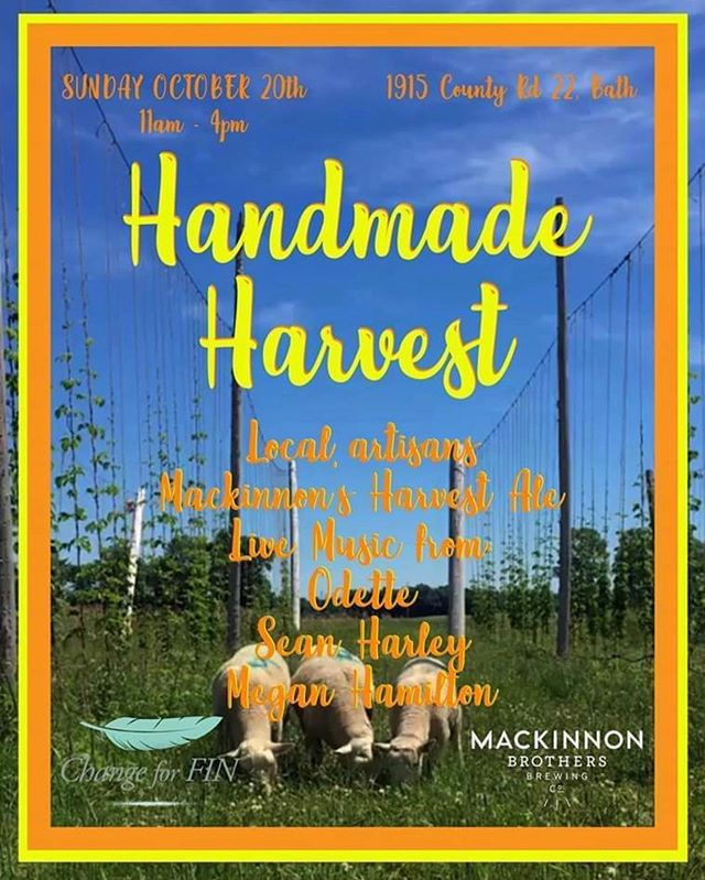 """We are honoured to be part of today's """"Handmade Harvest"""" event in Bath, Ontario, hosted by @mackinnonbrewing until 4:00pm. Come out to support Change for FIN, a local organization that advocates for and supports youth victims of violence in the Kingston community. For more information on Change for FIN and how to get involved or donate, please visit their website www.changeforfin.com. Other performers today include Sean Harley and Megan Hamilton. We'll be hitting the stage for an acoustic set at 2:30pm. See you then ❤️ . . . . #handmadeharvest #bathontario #mackinnonbrothers #fundraiser #raiseawareness #changeforfin #stopyouthviolence #communitysupport #kingston_on #canada #fall #ygk #ygklive #ygkevents #ygkmusic #acousticset #countrymusic #popmusic #musicforchange"""