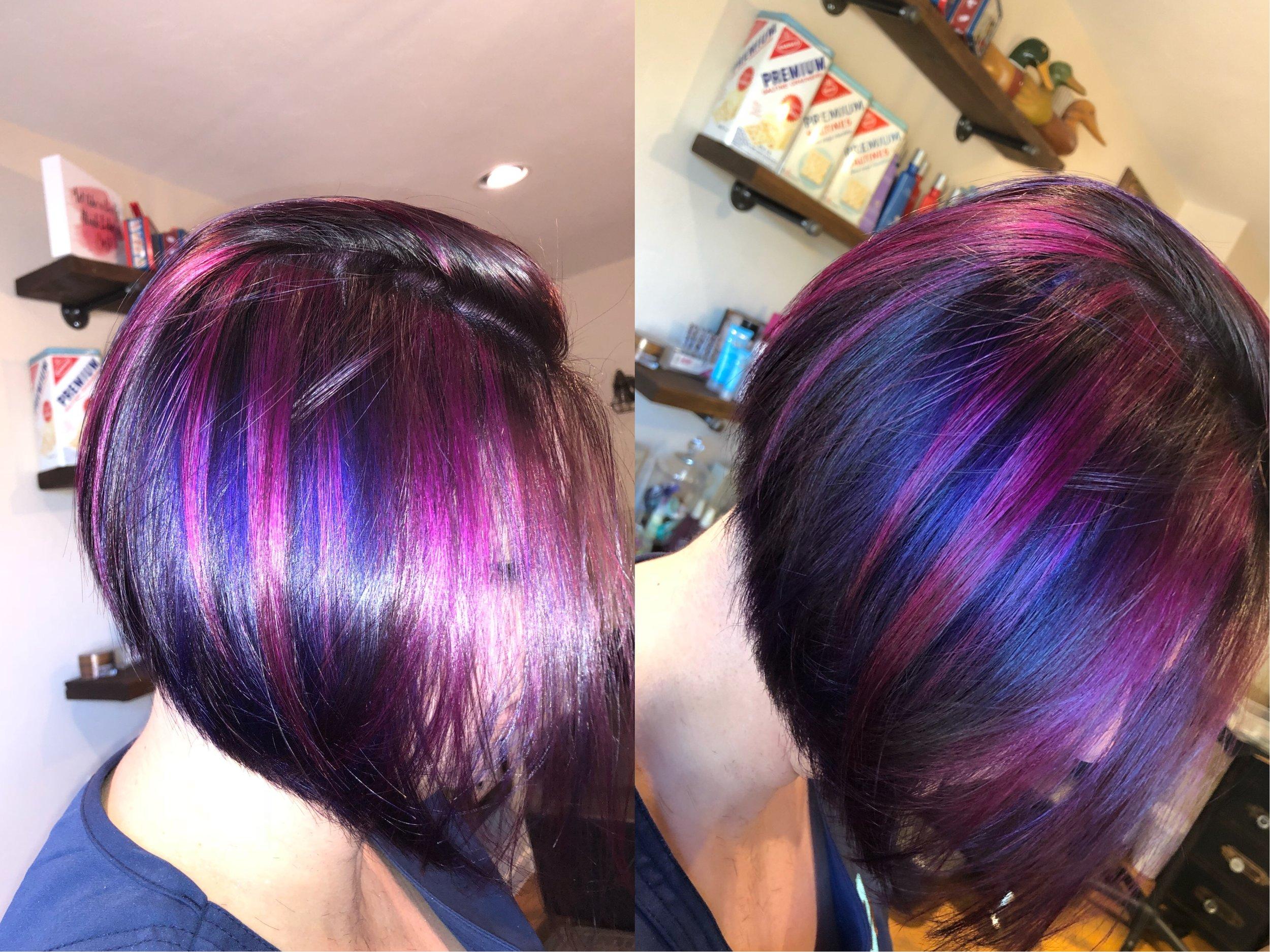 Purple and Pink Hughlights