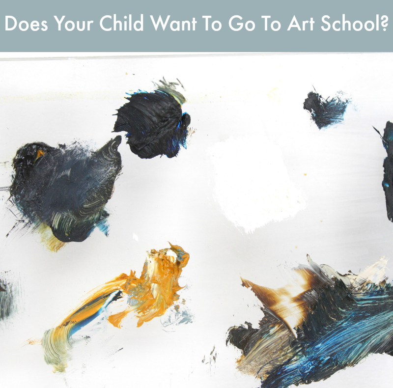 Does Your Child Want To Go To Artschool?  Blog post by Samantha Barnes Artist