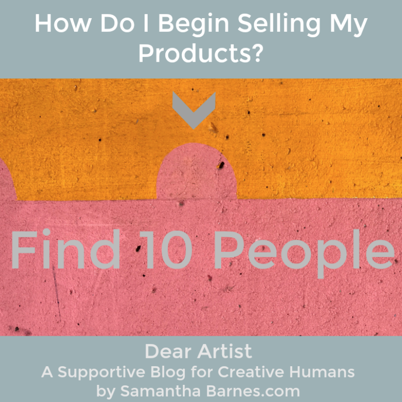 Dear Artist, a supportive blog for creative humans by Samantha Barnes.com
