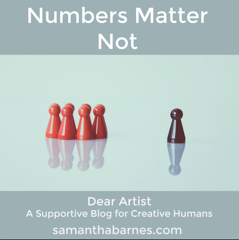 follower numbers don't matter by artist samantha barnes