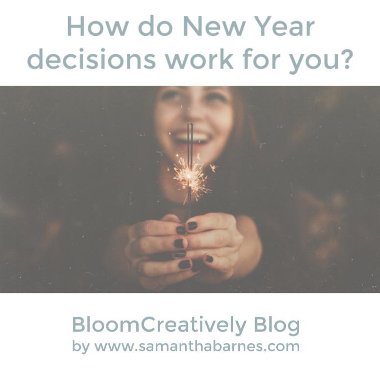 How do NY Resolutions Work For You?  Bloom Creatively Blog by Samantha Barnes.com
